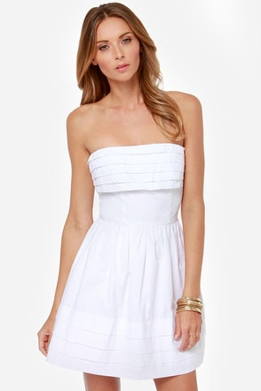 Jack by BB Dakota Megalyn Strapless White Dress