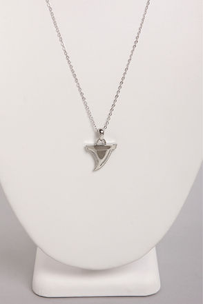 Culture Shark Silver Shark Tooth Necklace