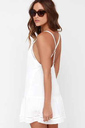 Turn Up the Heat Ivory Dress at Lulus.com!