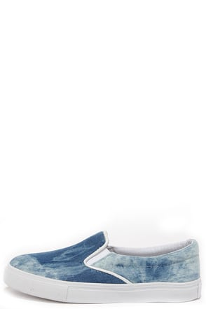 Skate and See Dye Blue Slip-On Sneakers at Lulus.com!