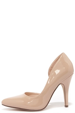 Up and Stunning Beige D'Orsay Pumps at Lulus.com!