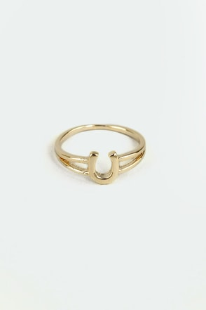 If the Horseshoe Fits Gold Knuckle Ring