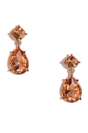 Lady Loverly Rose Gold Earrings at Lulus.com!
