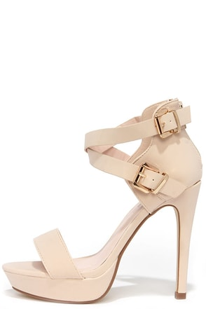 Raise the Roof Coral Nubuck Platform Sandals at Lulus.com!