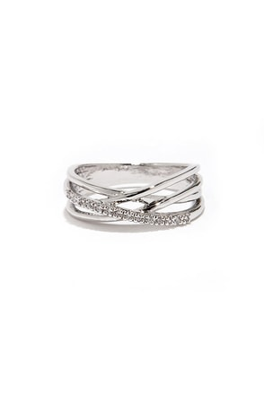 Wrapped in Radiance Silver Rhinestone Ring at Lulus.com!