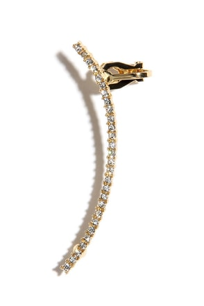 Tree Climber Gold Rhinestone Ear Cuff at Lulus.com!