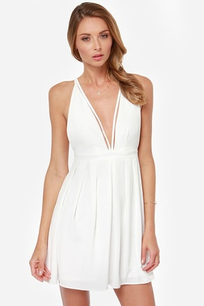 Model Behavior Ivory Dress