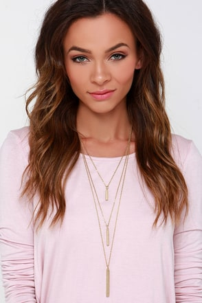 Un Deux Trois Gold Layered Necklace at Lulus.com!