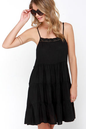 Raviya Hidden Cove Black Dress at Lulus.com!