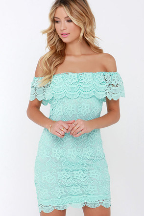 Islands in the Stream White Lace Off-the-Shoulder Dress at Lulus.com!