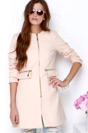 From Paris, With Love Blush Coat at Lulus.com!