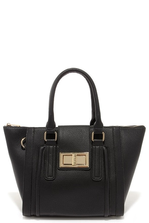 Window Shopper Black Tote at Lulus.com!