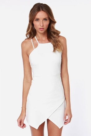 Strap Me Silly Ivory Bodycon Dress