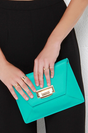 Shape Expectations Sea Green Purse at Lulus.com!