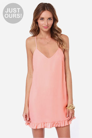 LULUS Exclusive Dream Scheme Peach Dress