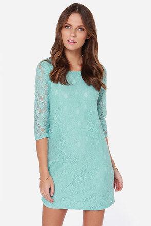 Bella Notte Mint Blue Lace Dress