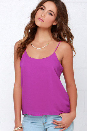 Moon Over My Cami Magenta Tank Top at Lulus.com!