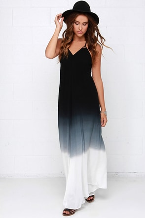 Fade Secret Black Ombre Maxi Dress at Lulus.com!