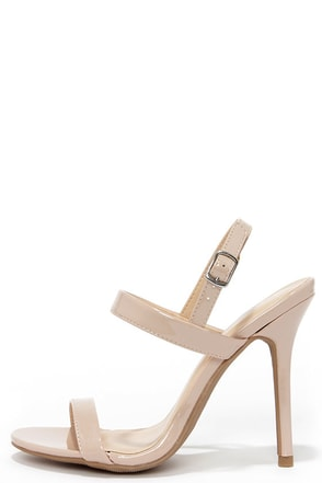 Stay Classy Natural Dress Sandals at Lulus.com!