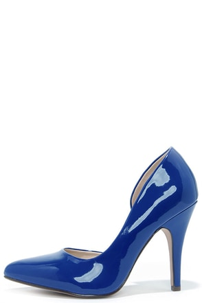 Up and Stunning Blue D'Orsay Pumps at Lulus.com!
