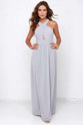 Chimerical Creation Grey Maxi Dress at Lulus.com!