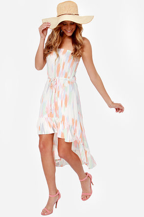 O'Neill Neema Strapless Print Dress