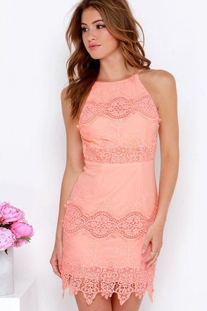 Worth It Yellow Backless Lace Dress at Lulus.com!