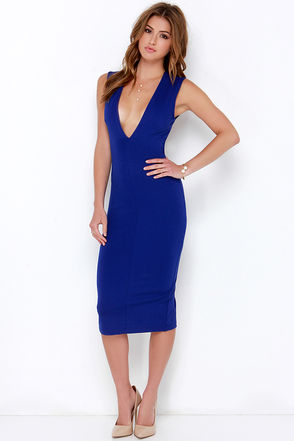 High Speed Chase Royal Blue Backless Midi Dress at Lulus.com!