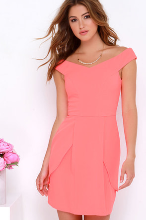 Flower Garden Neon Coral Dress at Lulus.com!