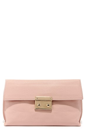 Quite the Handful Light Pink Clutch at Lulus.com!