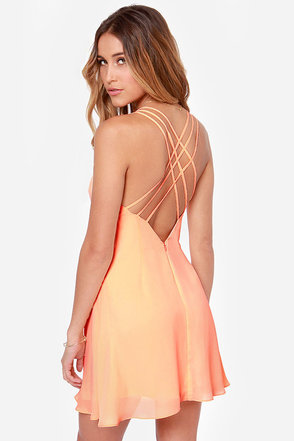 Island in the Sun Peach Dress