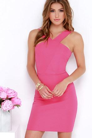 Make Me Smile Fuchsia Bodycon Dress at Lulus.com!