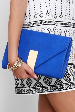 The Night is Young Orange Envelope Clutch at Lulus.com!