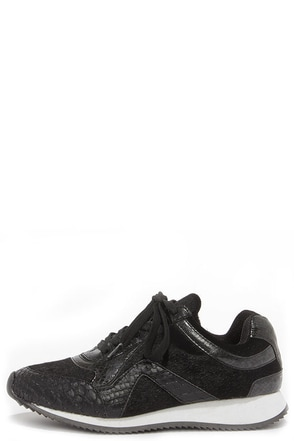 Privileged by J.C. Dossier Sunday Black Lace-Up Sneakers at Lulus.com!