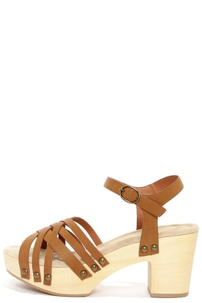 Restricted Cate Tan Strappy Platform Sandals