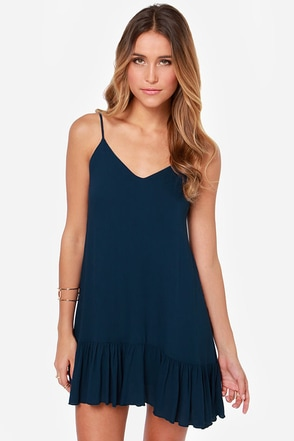 Let It Flow Teal Dress
