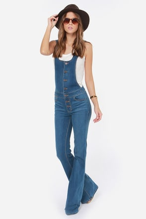 Dittos Delilah Flared Overalls