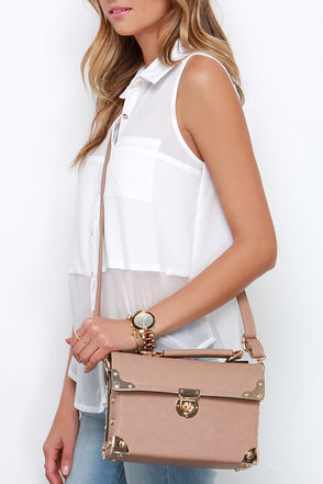 Treasure Trove Taupe Handbag at Lulus.com!