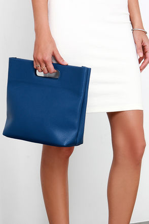 Modern Art Blue Purse at Lulus.com!