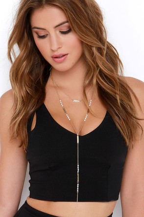 Celebration Song Gold and White Layered Necklace at Lulus.com!