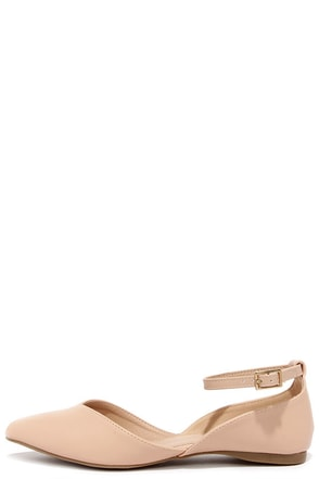 Split Second Nude D'Orsay Flats at Lulus.com!