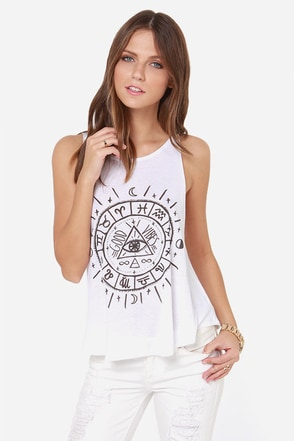 Billabong To the Stars White Tank Top