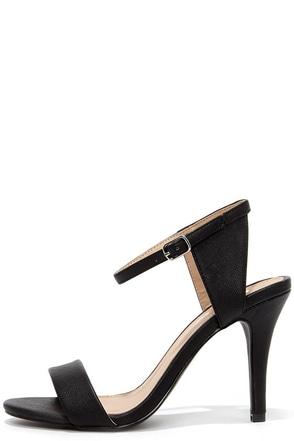 Luxe Lover Black High Heel Sandals at Lulus.com!