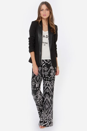 Billabong Keeping Calm Black Southwest Print Pants