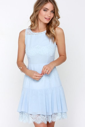 Pastel Me More Light Blue Lace Dress at Lulus.com!