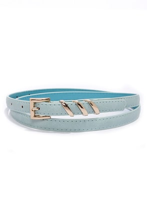 Place Your Belts Mint Blue Belt