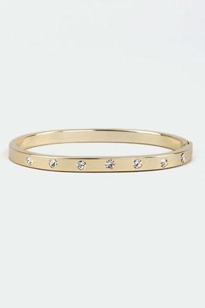 Slim Gem Gold Rhinestone Bracelet