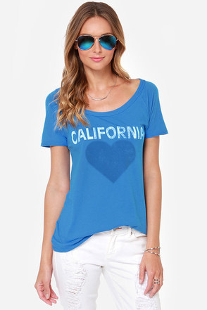 Chaser California Love Blue Tee