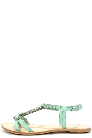 Coconuts Atlantis Turquoise Beaded Sandals