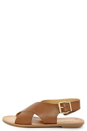 Dirty Laundry Beatbox Sugar Brown Crisscross Sandals